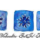 Schneeflocken Weihnachtsdesign  by artshop77