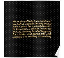 """Let us give publicity to... """"Nelson Mandela"""" Inspirational Quote (Square) Poster"""