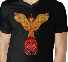 Gold-flaming Angel, Gabriel Mens V-Neck T-Shirt