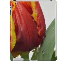 raindrops and tulips iPad Case/Skin
