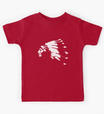 Whirling Horse Sioux Indian Chief Kids Tee