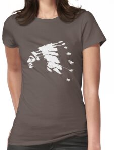 Whirling Horse Sioux Indian Chief Womens Fitted T-Shirt