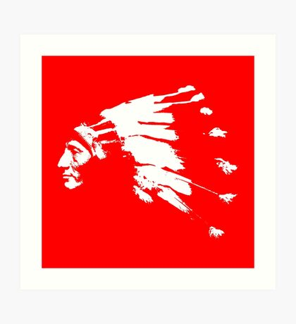 Whirling Horse Sioux Indian Chief Art Print