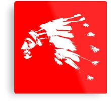 Whirling Horse Sioux Indian Chief Metal Print