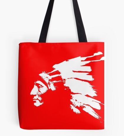 Whirling Horse Sioux Indian Chief Tote Bag