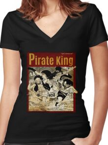 PIRATE KING 5 Women's Fitted V-Neck T-Shirt