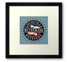 Louisiana bluegrass kentucky Framed Print