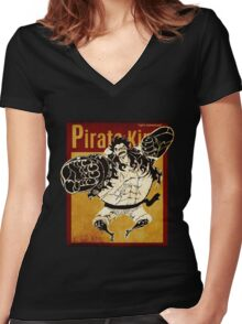 PIRATE KING 6 Women's Fitted V-Neck T-Shirt