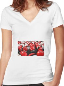 Pokeball GO! Women's Fitted V-Neck T-Shirt