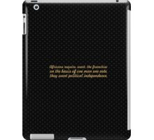 "Africans require... ""Nelson Mandela"" Inspirational Quote iPad Case/Skin"