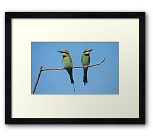 Not talking to you - Well I'm not talking to you either Framed Print