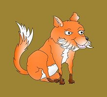 Cartoon Fox by piedaydesigns
