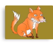 Cartoon Fox Canvas Print
