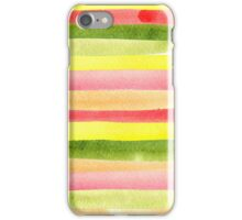 Watercolor colorful stripes seamless background. iPhone Case/Skin