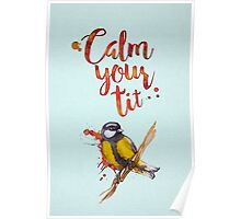 Calm Your Tit Poster