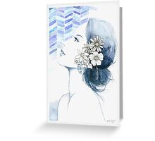 Blue Greeting Card