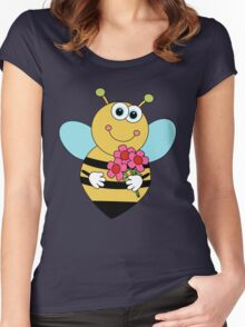 Bumble Bee Kids Wear Women's Fitted Scoop T-Shirt