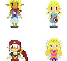 Legend of Zelda - Windwaker Female Set 1 by SteampunkStein
