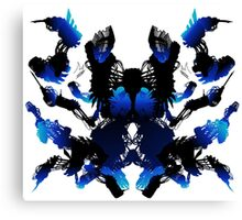 Rorschach Blue Canvas Print