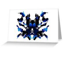 Rorschach Blue Greeting Card