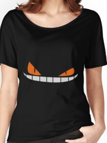 Scary Smiling face Cap (Red|Black) Women's Relaxed Fit T-Shirt
