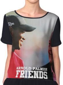 Friends Wood Palmer Chiffon Top