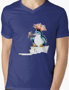 Penguin Punk Mens V-Neck T-Shirt