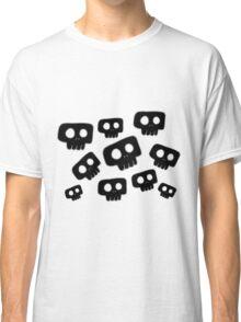 Cute Halloween Black Skulls Classic T-Shirt