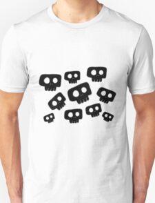 Cute Halloween Black Skulls Unisex T-Shirt