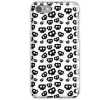 Cute Halloween Black Skulls iPhone Case/Skin
