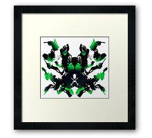 Rorschach Green Framed Print