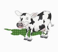 Cow Casting a Green Shadow by piedaydesigns