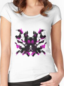 Rorschach Pink Women's Fitted Scoop T-Shirt