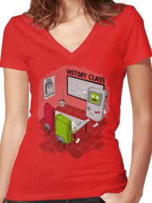 History Class Women's Fitted V-Neck T-Shirt