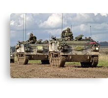 A convoy of British Army FV432 Armoured Personnel Carriers  Canvas Print