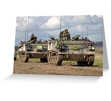 A convoy of British Army FV432 Armoured Personnel Carriers  Greeting Card