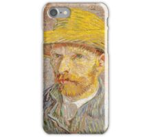 Self-Portrait with a Straw Hat, Artist Vincent van Gogh iPhone Case/Skin