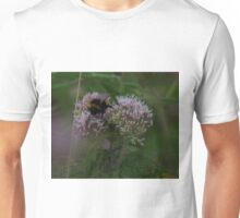 Bee on Hemp Agrimony Flowers at Gwithian Nature Reserve in Cornwall. Unisex T-Shirt