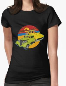 Checking out the sunset Womens Fitted T-Shirt