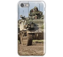 A convoy of British Army FV432 Armoured Personnel Carriers  iPhone Case/Skin
