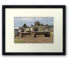 A convoy of British Army FV432 Armoured Personnel Carriers  Framed Print