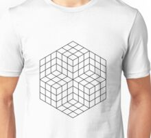 Vasarely cubes Unisex T-Shirt