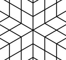 Vasarely cubes Sticker