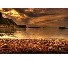 Jurassic coastline at dawn Photographic Print