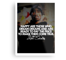 "2Pac ""Happy Are Those..."" Tumblr Quote shirt Metal Print"