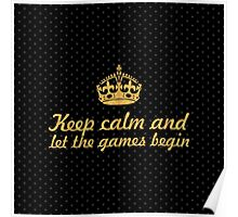 Keep calm and... Inspirational Quote (Square) Poster