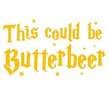 This could be butterbeer Photographic Print