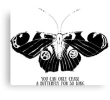 Butterfly; sketch; freehand drawing Canvas Print