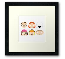 Family Guy - Circley! Framed Print