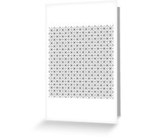 Triangles pattern in black and white Greeting Card